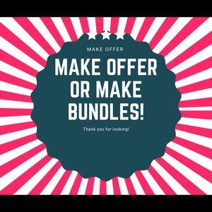 Make me an offer or make bundles!!